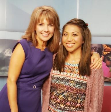 9news Kim Christensen at the Rocky Mountain PBS Studio, Denver. Sept 2016