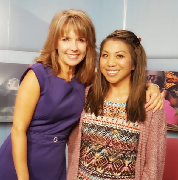 9news Kim Christensen at PBS Studio Denver, Sept. 2016