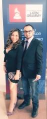 Tia Terlaje with boyfriend & recording artist Tony TwoTone at the Latin Grammy November 2016