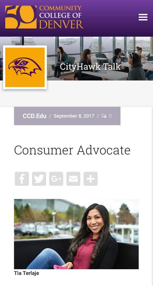 CCD Alumni Feature, Sept 2017